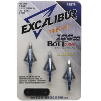 Excaliber Crossbow Boltcutter 100 Grain Stainless 3-Blade Broadhead