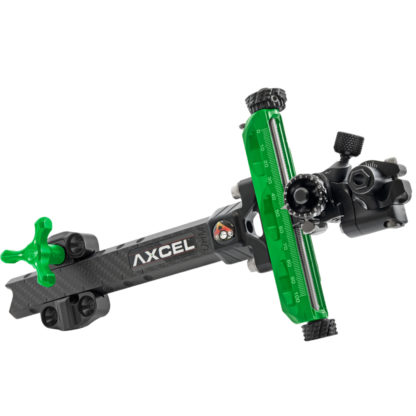 Axcel Archery Sights Achieve XP UHM Carbon Bar Compound 9 Right Hand Green
