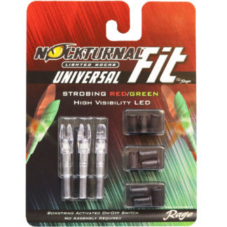 Nockturnal FIT Universal Size Strobing Red & Green Lighted Nock NT-300