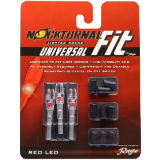 Nockturnal FIT Universal Size Red Lighted Nock NT-302