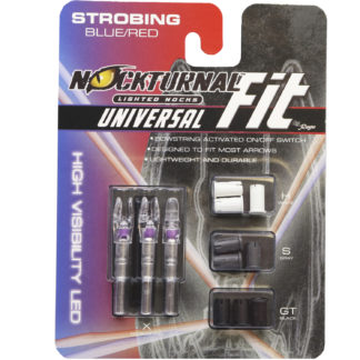 Nockturnal FIT Universal Size Strobing Red & BLUE Lighted Nock NT-310
