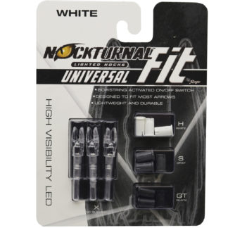 Nockturnal FIT Universal Size White Lighted Nock NT-317