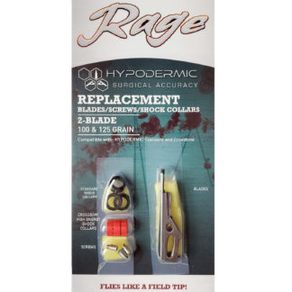 Rage Broadhead Hypodermic Replacement Blades and Collars R39005