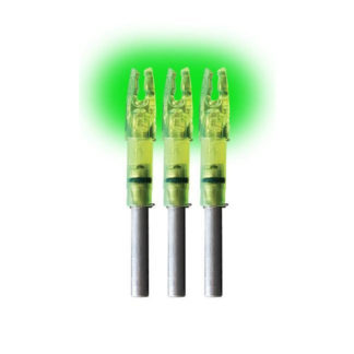 Lumenok Lighted Arrow Nock 3pk Green H H3G