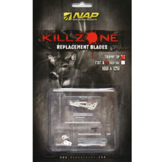 New Archery Products Killzone Broadhead Replacement Trophy Tip Blades 60-598