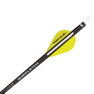 New Archery Products Quik Spin QuikFletch Black Tube Yellow 60-744