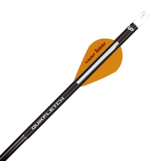 New Archery Products Quik Spin QuikFletch Black Tube Orange 60-746
