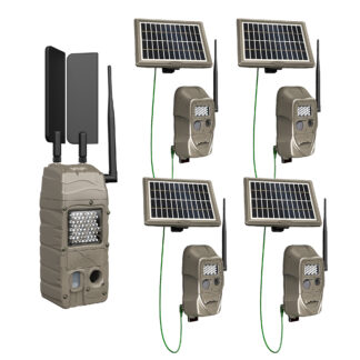 Cuddeback CuddeLink Cell Starter Kit G-5109 4 1 IR Flash Bonus Solar Pack