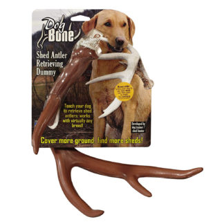 Dog Bone Shed Dummy Retrieving Antler Brown