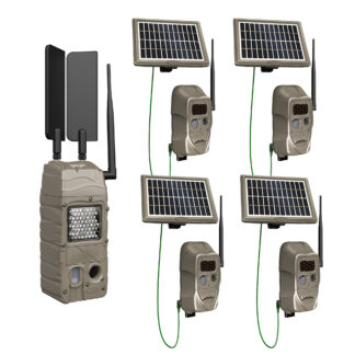 Cuddeback CuddeLink Cell Starter Kit G-5109 4 1 Black Flash Bonus Solar Pack