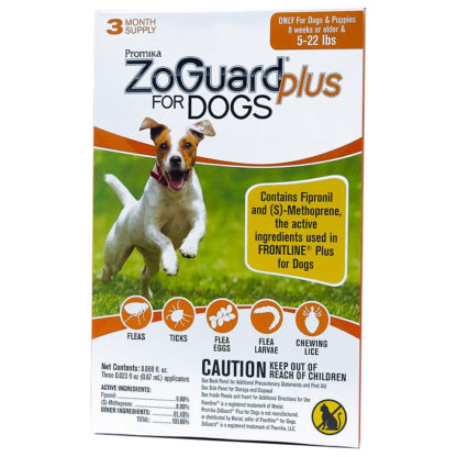 00500 ZoGuard Plus For Dogs Flea and Tic 5-22 lbs
