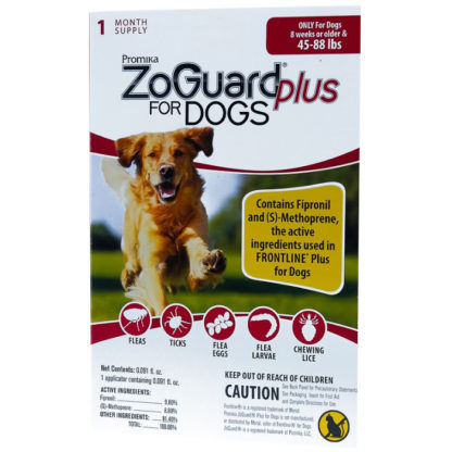 ZoGuard Plus For Dogs Flea and Tic 45-88 lbs
