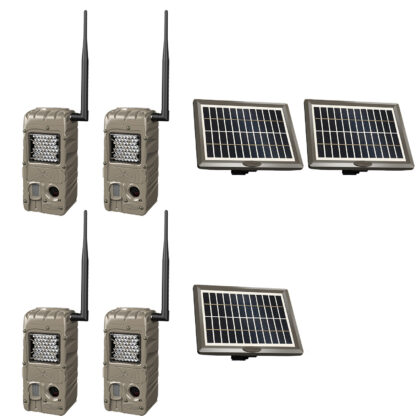 CuddeBack CuddeLink Power House IR G-5062 4 Pack with 3 Solar Panels