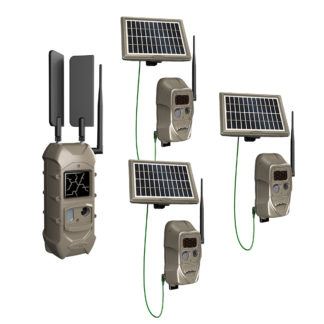 Cuddeback CuddeLink Cell Starter Kit 3 1 Black Flash Bonus Solar Pack