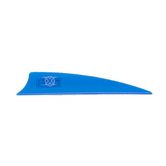 "Bohning X Vane 3"" Shield Cut Satin Blue"