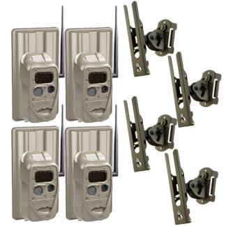 CuddeBack CuddeLink 4pk J Black Flash Camera with Battery Pack Genius Mount 09048