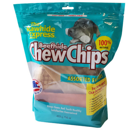 Lennox Rawhide Chew Chips Beefhide Assorted Flavor