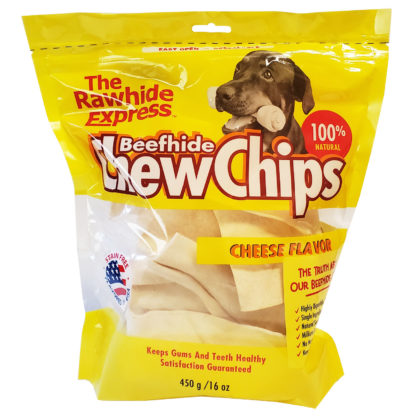 Lennox Rawhide Chew Chips Beefhide Cheese Flavor