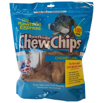 Lennox Rawhide Chew Chips Chicken Hickory Flavor