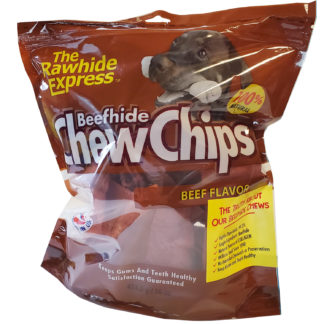 Lennox Rawhide Chew Chips Beefhide Bubble Beef Flavor
