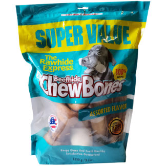 Lennox Rawhide Assorted Bones and Flavors 3lb Bag