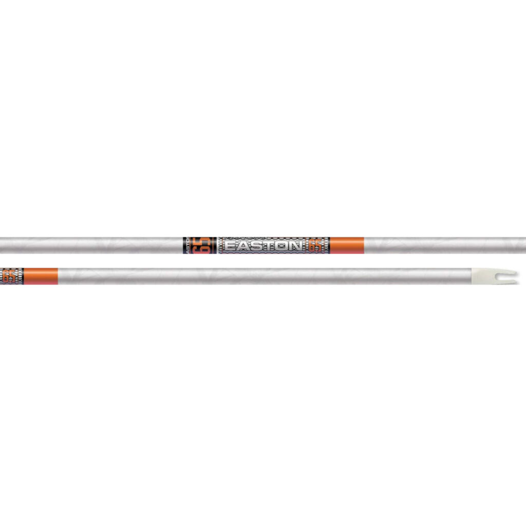Easton Arrow 6.5 White Out 6.5MM ACU Carbon 12 Pack Bare Shafts
