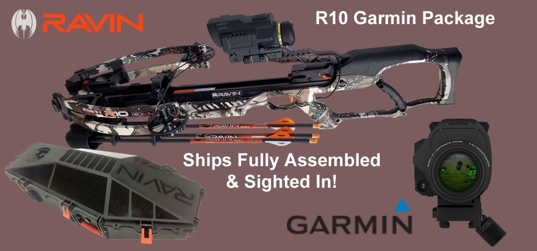 Ravin Crossbow R10 Garmin Package with Hard Case