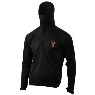 Badlands Stealth Merino Wool Hoodie Black 21-38509