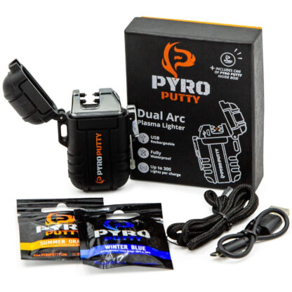 Pyro Putty Dual Arch Rechargable Electric USB Lighter PPARC1