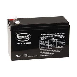 Boss Buck 12 VOLT 7 AMP HR RECHARGEABLE BATTERY DE-30020