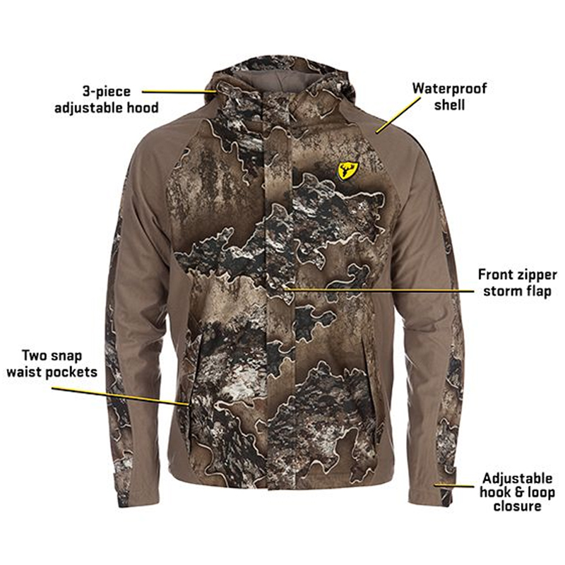 ScentBlocker Clothing SHIELD SERIES DRENCHER INSULATED JACKET Waterproof Realtree Excape 1055210-223